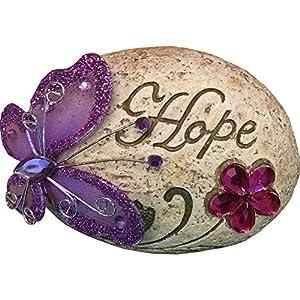 "Butterfly Glitter Message Stone Purple ""Hope"" by PMS"