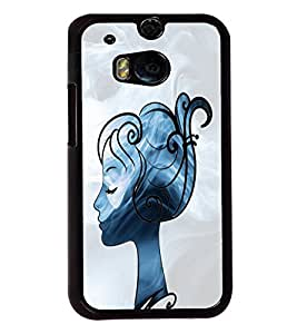 Fuson Cute Girl Back Case Cover for HTC ONE M8 - D3662