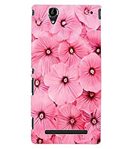 ColourCraft Beautiful Flowers Design Back Case Cover for SONY XPERIA T2 ULTRA