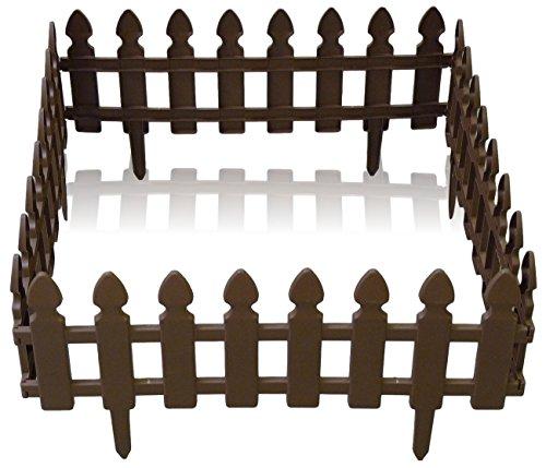 4 x gartenzaun beetzaun beeteinfassung zaun kunststoff. Black Bedroom Furniture Sets. Home Design Ideas
