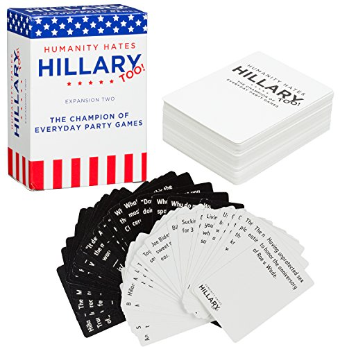Humanity-Hates-Trump-Card-Game-Expansion-Two-Humanity-Hates-Hillary-too-80-White-30-Black-Cards