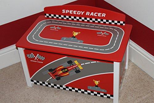 Grand coffre à jouets pour enfants Speedy Racer - Sérigraphie brevetée