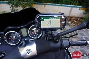 BrainWizz® Support Moto / Scooter Etanche avec bras articulé pour iPhone 5/5S/4/4S et smartphones taille équivalente