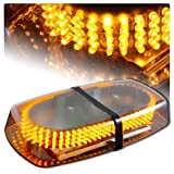 Amber Emergency Hazard Warning LED Mini Bar Strobe Light w/ Magnetic Base
