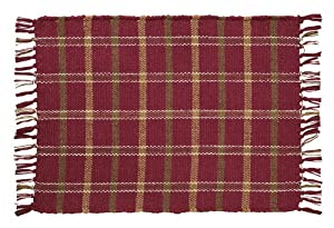 Russet Rib Weave Woven Cotton Placemats (Set of 2)