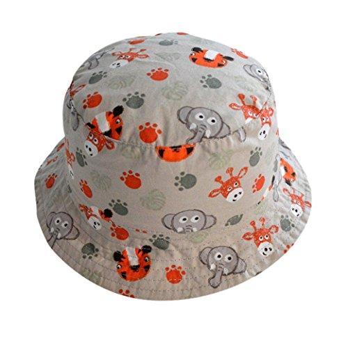Happy Cherry Bebés Niños Niñas Sombrero de Sol Tipo de Pescador Estampado  de Animal de Zoológico Gorra Infantil Bucket Hat Circunferencia de Cabeza  ... a811bd12a7b