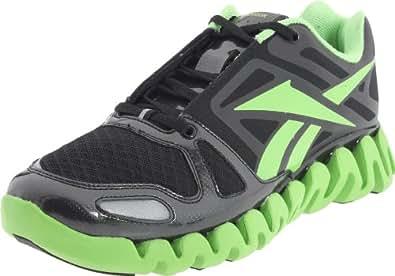 Reebok Men's ZigDynamic Running Shoe,Black/Sushi Green,6.5 M US