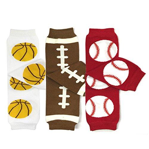 Bowbear Baby 3-Pair Leg Warmers, Basketball, Football, Baseball (Baby Leggings Football compare prices)