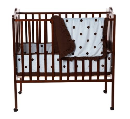 american baby company 3piece crib set with large espresso dot