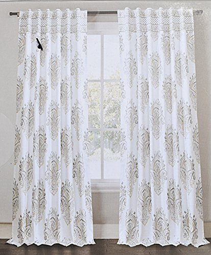 Sheer Curtains 96 sheer curtains : Cottage Home Faye Dupioni Silk 96inch Curtain Panel Faye Dupioni ...