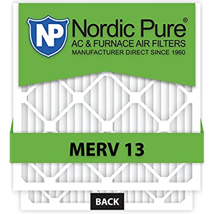 Nordic Pure 22x22x1 MERV 12 Pleated AC Furnace Air Filters 6 Pack