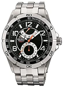 Orient Men's CFM00001B Power Reserve Semi-Skeleton Black Automatic Watch