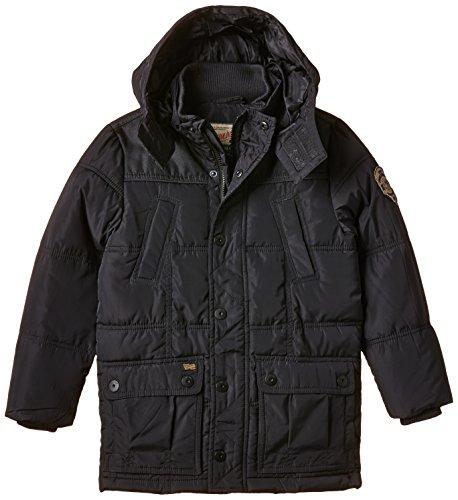 PETROL INDUSTRIES - Jacket Padded Parka Long, Cappotto per bambini e ragazzi, blu (black navy), 8 anni (128 cm)