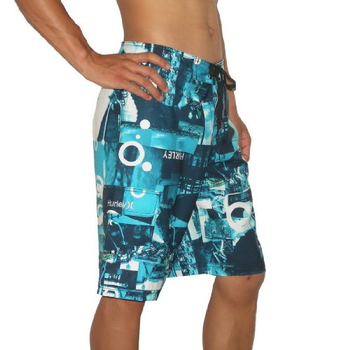 Mens Hurley Skate & Surf Boardshorts Board Shorts - Blue (Size: 32)