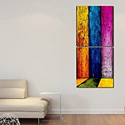 999STORE Multiple Frames Printed Different colors Wall Art Painting -2 Frames (76x25 cm)