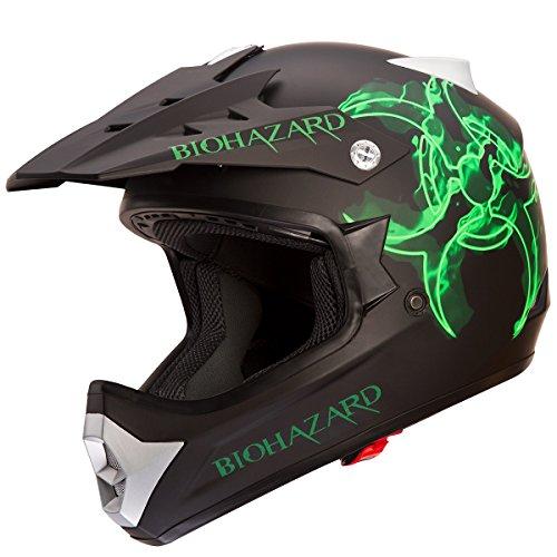 IV2-BIOHAZARD-High-Performance-MotocrossATVDirtbike-Helmet-Matte-BlackBiohazard