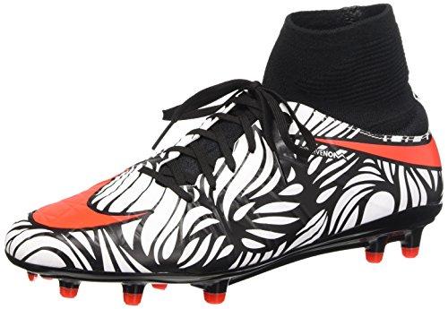 Nike Hypervenom Phatal II Df Njr Fg Scarpe da calcio allenamento, Uomo, Multicolore (Black/Bright Crimson-White), 44