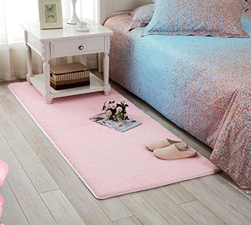 Sytian® 4.5cm Super Soft Shaggy Area Rugs Bedroom Rug Livingroom Sitting Room Carpet Tea Table Mat Floor Mat Baby Care Mat Bath Mat Bathroom Shower Rug (60*120cm)