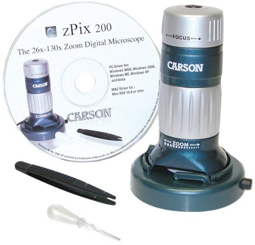 Carson - Zpix? 200 Usb Digital Microscope With 36X - 176X Optical Zoom *** Product Description: Carson - Zpix? 200 Usb Digital Microscope With 36X - 176X Optical Zoom Powerful Zoom Digital Microscope That Displays The Magnified Image Right On A C ***