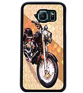 PrintDhaba Bike D-5845 Back Case Cover for SAMSUNG GALAXY S6 (Multi-Coloured)
