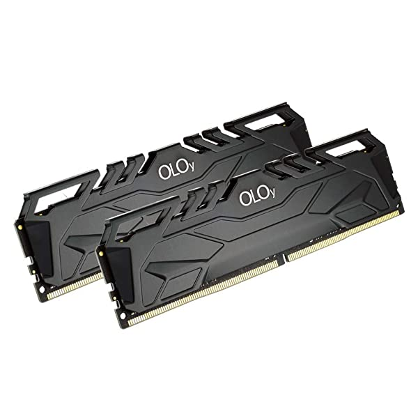 OLOy Memory DDR4 RAM 16GB (2x8GB) 3000 MHz CL16 1.35V 288-Pin Desktop Gaming UDIMM (MD4U083016BJDA) (Color: Blackx2, Tamaño: 8GBx2)
