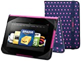"""BUILT Slim Folio Standing Case for Kindle Fire HD 7"""" (Previous Generation), Mini Dot Navy"""