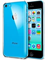 Apple iPhone 5C Clear Transparent Ultra Slim / Thin Crystal Hard Back Case Cover With Soft Rubber Edges Plus Screen Protector & Polishing Cloth