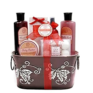 Aquaterra - Sugared Cranberry Bath and Body Spa Gift Set Gift Basket