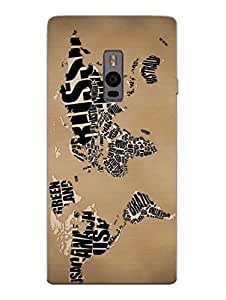 Wanderlust Traveler Globe Trotter - Hard Back Case Cover for OnePlus Two - Superior Matte Finish - HD Printed Cases and Covers