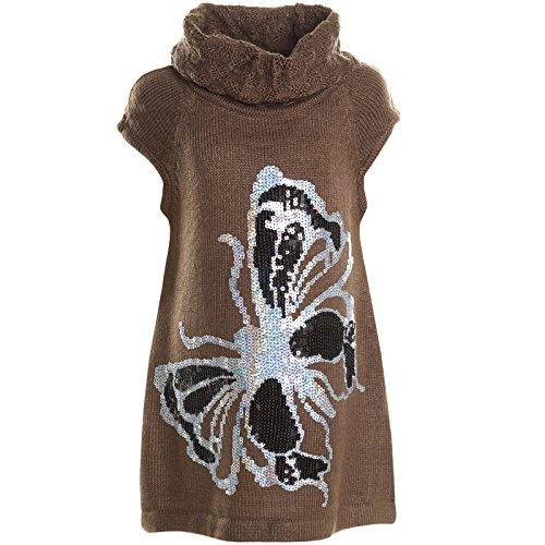 BEZLIT - Maglia sportiva - Camicia - A righe - Maniche corte  -  ragazza marrone 10 anni