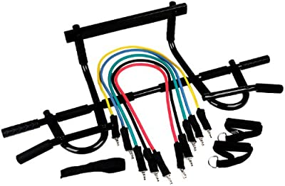 Black Mountain Products Heavy Duty Chin Up Bar And Resistance Bands by Black Mountain Products