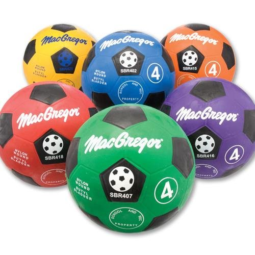 MacGregor Rubber Soccer Ball, Red, Size 4 - 1
