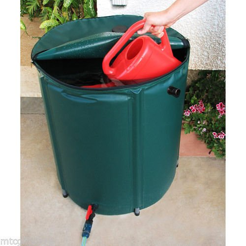 43 Gallon Portable Collapsible Natural Rainwater Collection Rain Barrel # 00391 --W#436BRE T44/35PDS566160 (Collapsible Rain Barrel compare prices)