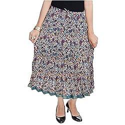 SHREEMANGALAMMART Fashionable Ethnic Cotton Short Length Skirt (Multi)(SMSKT578)
