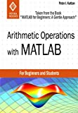img - for Arithmetic Operations with MATLAB (Taken from