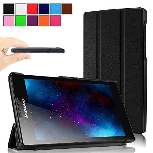 Britainbroadway Lenovo Tab 2 A7-30 SmartShell Hülle Case Cover Tasche Etui - Ultra Slim Superleicht Stand Cover für Lenovo Tab 2 A7-30 17,8 cm (7 Zoll IPS) Android Tablet(Schwarz)