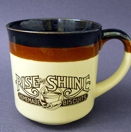 hardees-coffee-mug-1986-rise-and-shine-homemade-biscuits-brown-rolling-pin-logo