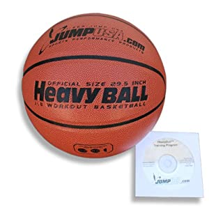 Buy Heavyball Heavy Weighted Basketball for Training Ultra Premium Composite Leather + Fast Hands Skills Video by Jump USA