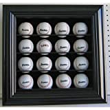 16 Baseball Cabinet Style Display Case Shadow Box, with glass door, B16-BL by DisplayGifts