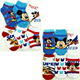 Mickey Mouse Toddler Assorted 6 pk Ankle Socks