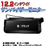 12.2インチサンバイザー モニター 左右セット(黒)