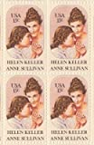 Helen Keller and Anne Sullivan Set of 4 x 15 Cent US Postage Stamps Scot 1824