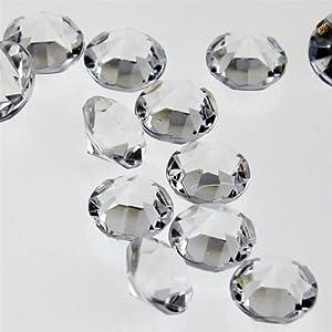 "Acrylic Gem Crystal Confetti Table Scatter - 3/8"" Small Diamonds (300 Pcs)"