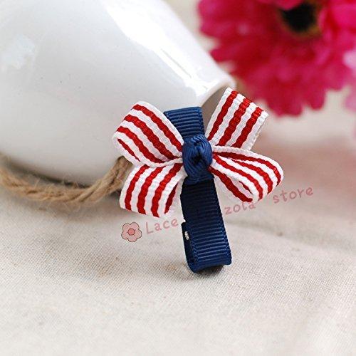 Lace Kenzola 2pc Toddler Mini Sailor Theme Bow Hair Barrettes Set by Lace Kenzola