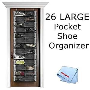 26 pocket over the door shoe organizer in for 12 pocket over the door shoe organizer