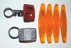 set reflektoren f r fahrrad 4 x speichenreflektor 1. Black Bedroom Furniture Sets. Home Design Ideas