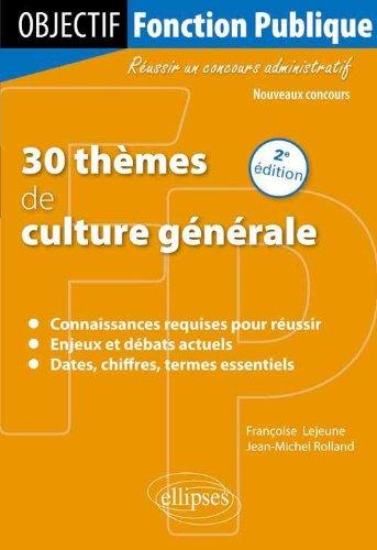 30 thèmes de culture générale