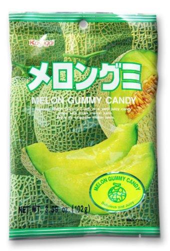 Japanese Fruit Gummy Candy from Kasugai - Melon - 102g (Kasugai Fruit Gummy Candy compare prices)