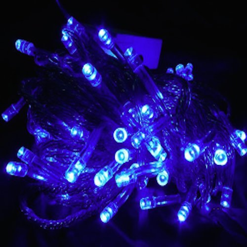 A To Z Traders – High Qaulity – Pure BLUE LED Rice Light, And (FREE 1 HAND Shape LED Light KEY-CHAIN) for Festivals Diwali/Christmas Home Decoration Light , Diwali Light