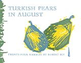 Turkish Pears in August